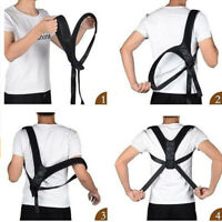Adjustable Posture Corrector Back Shoulder Support Body Brace Bra Belt Men Women