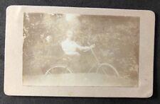 Netherlands Victorian Carte De Visite CDV: Named Family: RÜBSAAN: Girl Bicycle