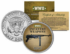 MP40 * WWII Infantry Weapons * JFK Kennedy Half Dollar U.S. Coin