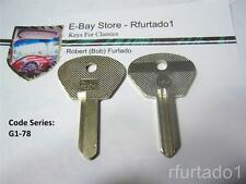 Key Blank For Alfa Romeo - Fiat door/trunk for in dash Ing. 1955 to 1969 (F91G)