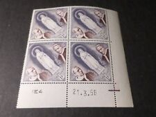 MONACO, timbre 492, COIN DATE, LOURDES PIE XII et PIE XI, neuf**, VF MNH STAMPS