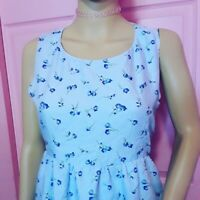 Periwinkle Floral Granny Tank Dress