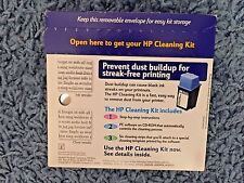 HP Cleaning Kit includes Inst. CD Software controls process Cleaning Strips