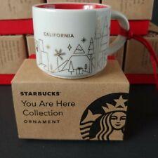 Starbucks Ornament Mug You Are Here California 2014 Mini Coffee Cup with Box New