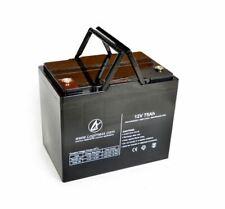 LOGIMEXX WATERPOWER PREMIUM AGM AKKU 75AH ideal für ZEBCO RHINO ELEKTROMOTOREN