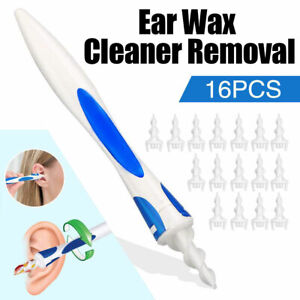 Ear Wax Remover Kit Earwax Cleaning Tools Spiral Ear with 16 pcs Soft Silicone