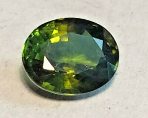 Tourmaline Green & Gold Natural Genuine Earth Mined Untreated Oval 8x6mm  1.5ct