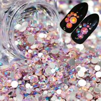 Mixed Color Manicure 3D Flat Back Rhinestones Nail Art Crystal