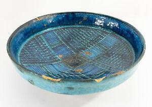 Antique Turkish Iznik Kashan Blue Turquoise Glazed Persian Dish Bowl Stoneware