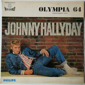 JOHNNY HALLYDAY     OLYMPIA 64     PRESSAGE ITALIE        RARE
