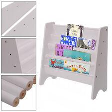 Sling Bookcase Book Rack Shelf Storage Kids Children Bedroom Playroom Bookshelf