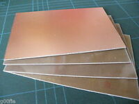 4 Pc 100 x 160mm Copper Clad PCB FR4 Laminate DOUBLE Side High Quality  045