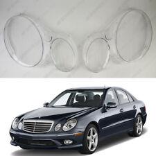 Mercedes E W211 (02-09) OEM Headlight Glass Headlamp Lens Plastic Cover (PAIR)