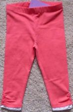 BNWT, Leggings, Lace Trim, Full length, Plain, Coral Pink, Size 1, 12/18 Months