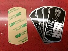 Ducati frame identification plate  60' single 125 160 175 200