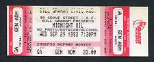 1993 Midnight Oil Unused Full concert ticket Earth and Sun and Moon Truganini