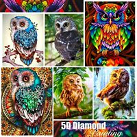 5D Mosaic Owl Design Full Drill Diamond DIY Cross Stitch Embroidery Painting Kit