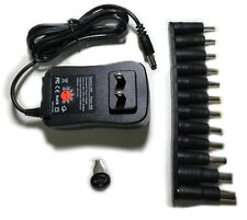 Universal 30W AC DC 5V 6V 9V 12V Power Supply Adapter Charger with 12 DC Tips