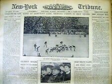 BEST 1906 display newspaper NAVY defeats ARMY in early ARMY-NAVY FOOTBALL GAME