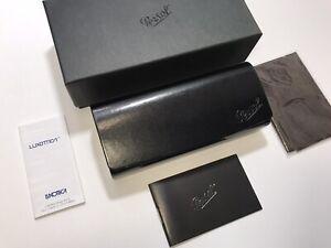 PERSOL Sunglasses Eyeglasses Black Hard Case Full Set New Authentic