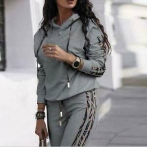 HOT Damen Trainingsanzug Hausanzug Hoodie Sweatshirt Hose Jogginganzug Sport