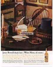 1959 WHITE HORSE Scotch Whiskey INN Vtg Print Ad