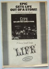 SLY AND THE FAMILY STONE 1968 POSTER ADVERT LIFE