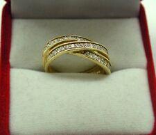 Hermoso de oro 18ct Y Diamantes Anillo De Diseño Cruz sobre
