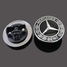Mercedes Benz Hood Black Flat Laurel Wreath Badge Emblem 0008171701