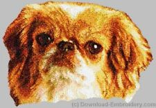 Large Embroidered Zippered Tote - Pekingese Dle2500