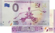 Deutsches Feuerwehrmuseum - Fulda 2019-1 Null Euro Souvenirschein €0 Euro Schein