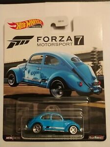 2020 Hot Wheels Forza Blue Volkswagen Classic Bug With Real Riders