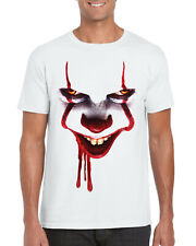 IT Pennywise Face T-Shirt, Halloween Scary Halloween Gift Unisex Kids Adults Top