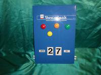 ~ alter ewiger Drehkalender Kalender Pappe Metall Vereinsbank Volksbank Magnete