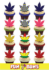 HASH Leaf Mix Edible Standup Wafer Cake Toppers ADULT Fun Party Festival