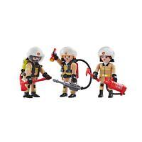 Playmobil Lot De 3 Pompiers 6586 Fireman figurines ville city figure fire toy