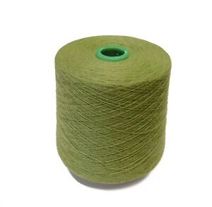 PURE CASHMERE YARN 2/36 Nm 2-ply - 100g cones of Foliage - Spun in the UK