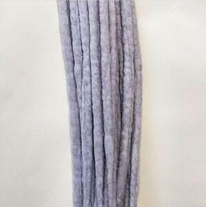 Serenity Dreads- 10 Seal silver/Grey Wool Dreads Dreadlocks Double Ended Long