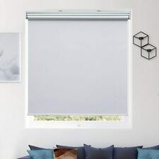 100% Blackout Fabric Shades Cordless Roller Shades  white 27W x 72H White