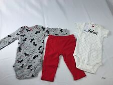 carters baby girl set SZ 9m MULTI