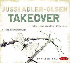 JUSSI ADLER-OLSEN - TAKEOVER.UND SIE DANKTE DEN GÖTTERN 8 CD NEU