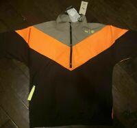Mens Puma x First Mile Train FM Xtreme Woven Jacket Grey Orange Black NWT $100