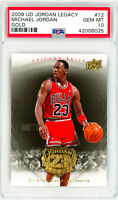 MICHAEL JORDAN 2009 Upper Deck Jordan Legacy GOLD #12 Perfect PSA 10
