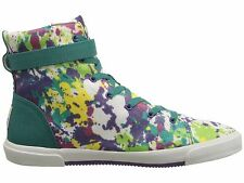 NEW I HEART UGG Sz7US HIGH TOP PAINT SPLATTER SNEAKERS BOOTS TROPICAL PAINT
