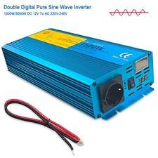 Spannungswandler 1500w Reiner Sinus Wechselrichter Inverter 12V auf 230V auto