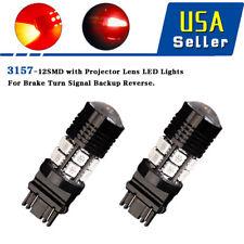 2X Red 3157 3156 12SMD High Power Chip Backup Reverse Brake  LED Light Bulbs 12V