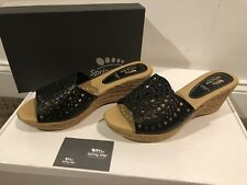 Spring Step Shoes Lovey-B Size 42 Black Wedge Sandal - New In Box Size 10.5/11