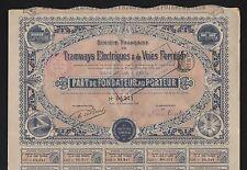 DECO => TRAMWAYS ÉLECTRIQUES & VOIES FERRÉES, part 1899 (E)