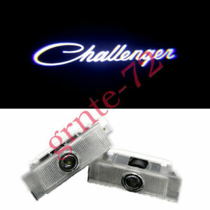 2x White LED Car Door Projector Ghost Shadow Lights For Dodge Challenger 2008-21