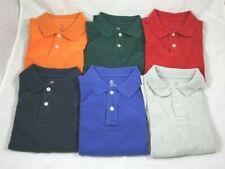 Lot of 6 Lands' End Boys Polo Shirts Size 8 Uniform